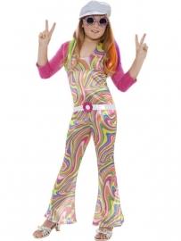 Compleet kostuum disco girl Elena