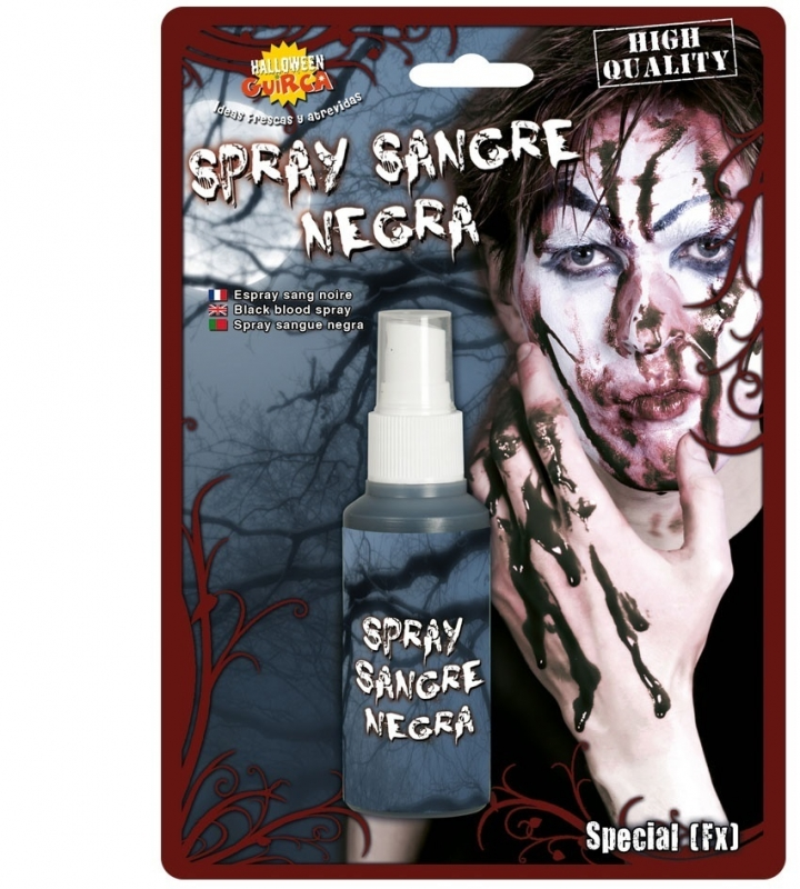 Zwarte zombie bloedspray