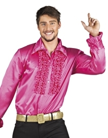 Disco blouse Toppers hotpink
