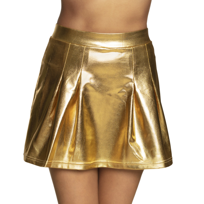 Sexy rokje shiny goud