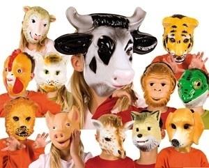 Masker plastic Wolf - kind
