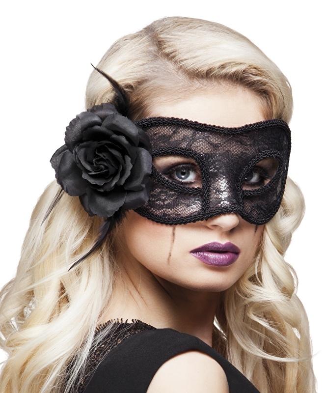 Oogmasker kant mystique zwart