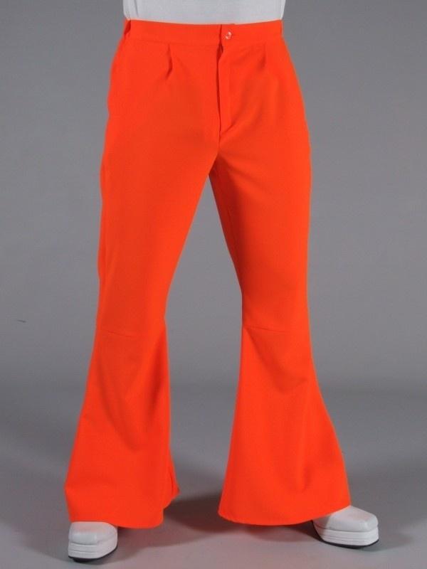 Disco - 70`s wijde broek oranje