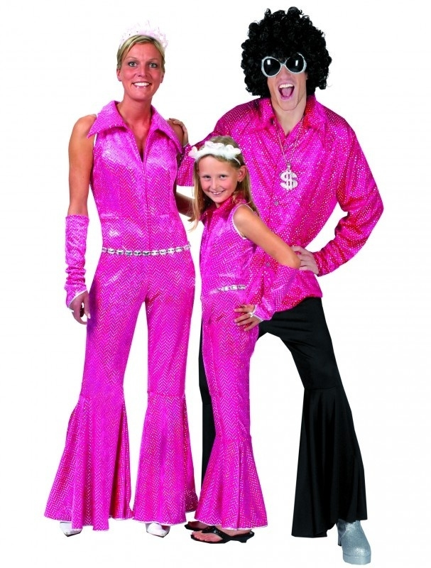 Disco Jumpsuit pink Glitter