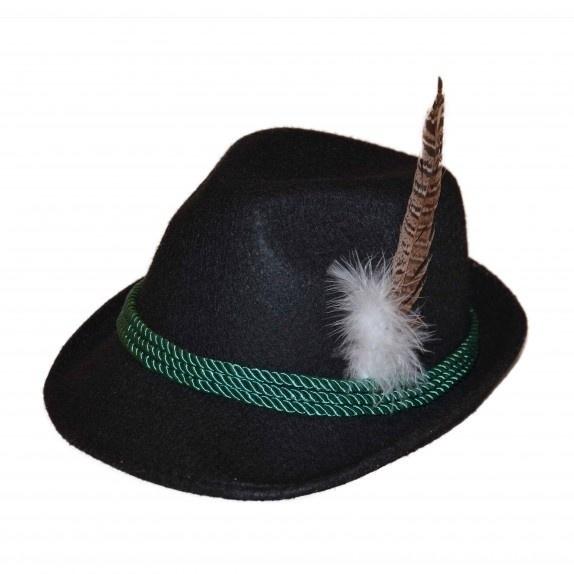 Oktoberfeste hoed zwart