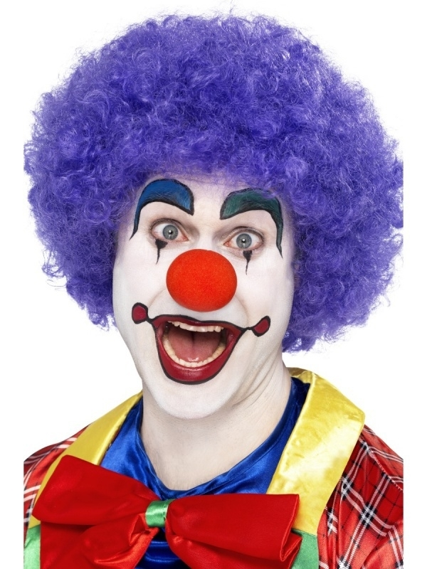 Paarse Clownspruik