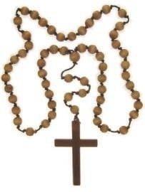Religieus kruis met kralen