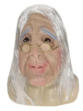 Masker rubber oude dame