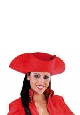 3 steek hoed rood