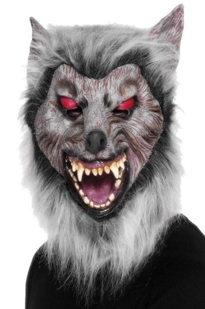Masker rubber Wolf rode ogen