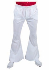 Witte wijde disco broek