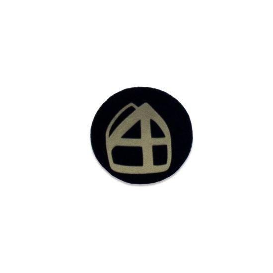 Button met mijter zwart