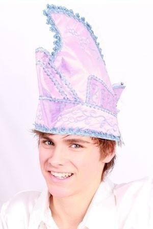 Prins Carnaval muts roze/wit
