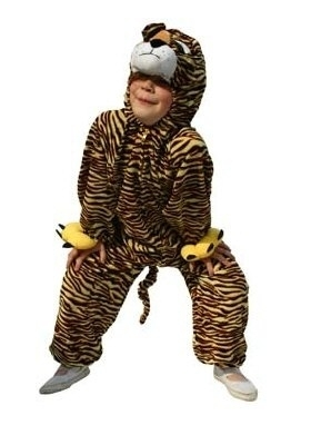 Plushe tijger pak