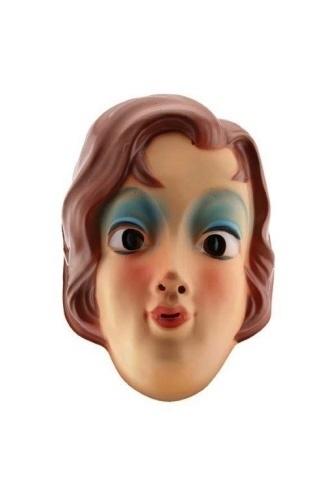 Masker plastic vrouw buin haar