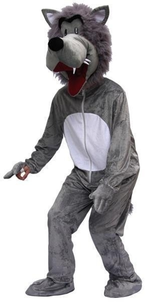 Kostuum wolven mascotte pro