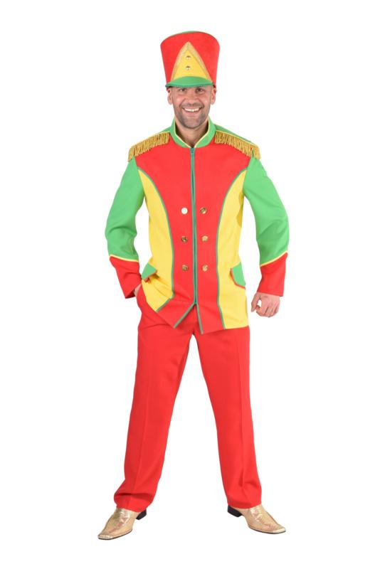 Harmonie jas rood - geel - groen