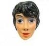 Masker plastic vrouw zwart haar