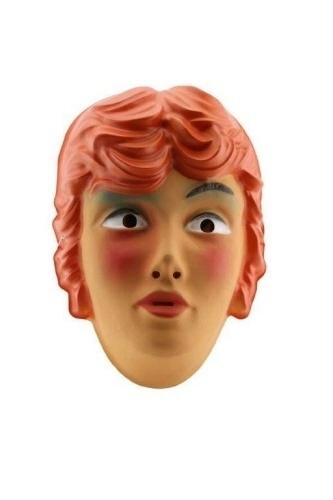 Masker plastic vrouw rood haar