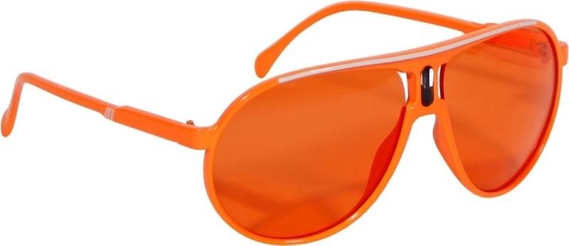 Oranje voetbal bril