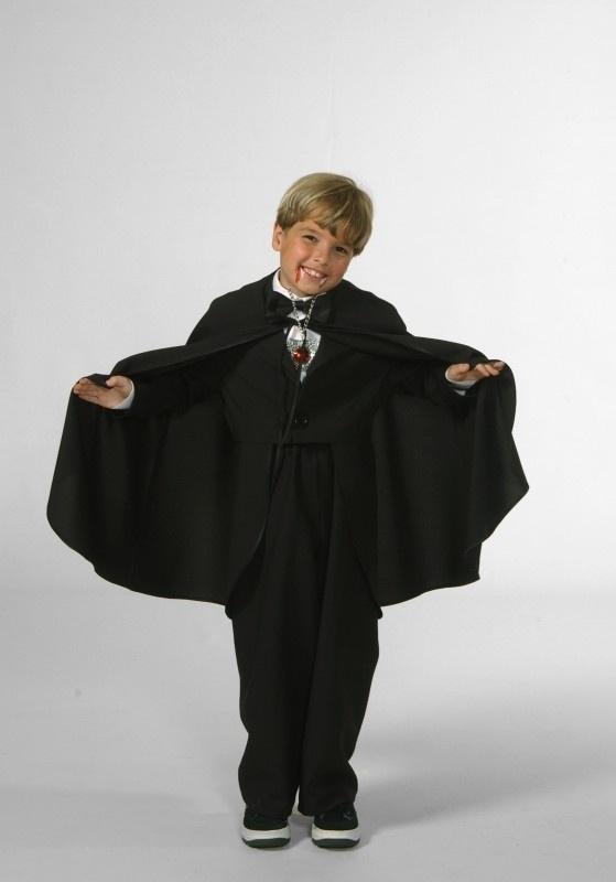 Dracula cape zwart kids