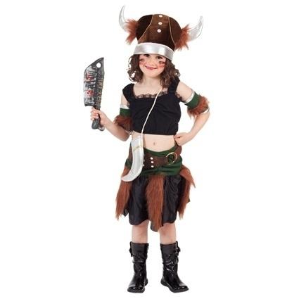 Vikingen kostuum meisje