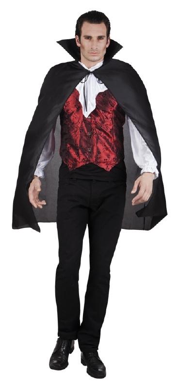 Zwarte Vampiers cape kort