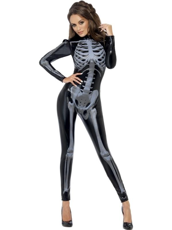 Catsuit skeleton deluxe