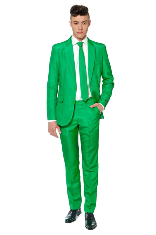 Solid green suitmeister kostuum
