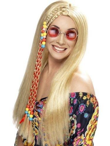 Hippie pruik blond