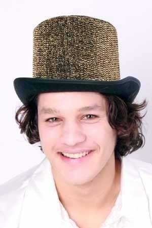Gouden Hoge hoed lurex