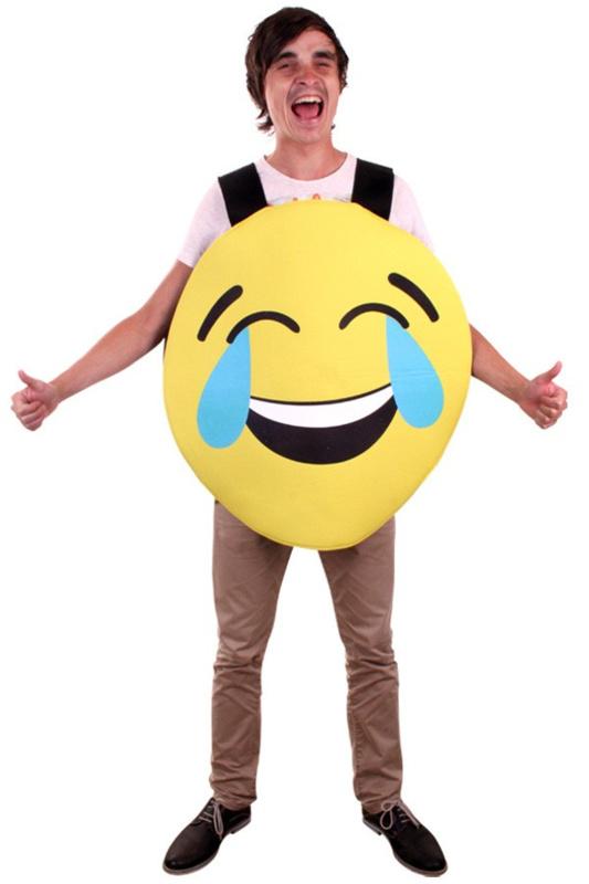 Emoticon kostuum smiley lachend