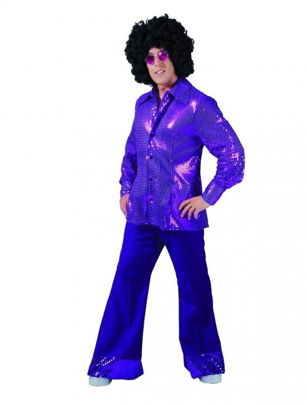 Glitter blouse Paars - purple