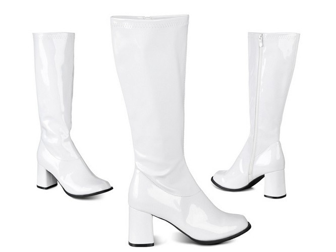 Witte Dameslaars gogo | Laarzen en schoenen | Partykleding