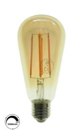 LED filament ST64 - E27 Amber