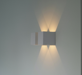 Wandlamp Square 100 - White & Gold