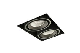 LED Square Trimless inbouwspot 2-Lichts (gratis driver) - Zwart