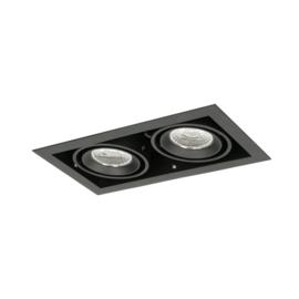 LED Square +Trim inbouwspot  2-lichts (gratis driver) - Zwart