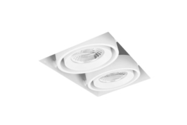 LED Square Trimless inbouwspot 2-Lichts (gratis driver) - Wit