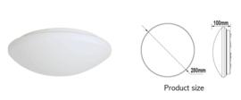 LED Plafonniere met Bewegingssensor en Schemersensor - Type 6+