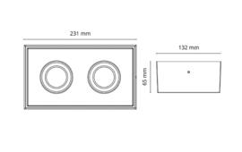 SGGC opbouw 2x6W - Dim to Warm