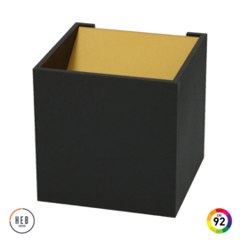 Wandlamp Square 100 - Black & Gold