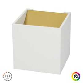 Wandlamp Square 70 - White & Gold