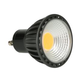 LED spot COB 230V 5W - GU10 (zwart)