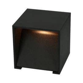Wandlamp Square 100 - Zwart