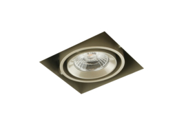 LED Square Trimless inbouwspot 1-Lichts (gratis driver) - Pearl Grey