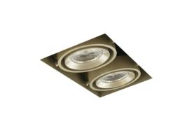 LED Square Trimless inbouwspot 2-Lichts (gratis driver) - Pearl Grey