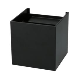 Wandlamp Square 100 - zwart (IP54)