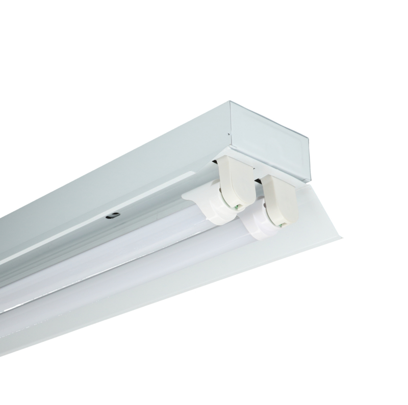 LED trog armatuur 120cm (2 buis) incl. buizen (3 maanden garantie)