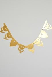 Letter banner basics goud